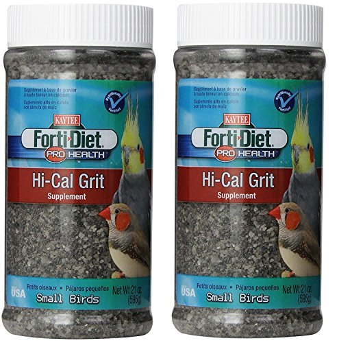 Kaytee Forti-Diet Pro Health Hi-Calcium Grit for Small Birds, 21-oz jar (42oz)