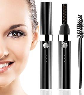 Heated Eyelash Curler, Quick Natural Curling USB Rechargeable Electric Eyelash Curler, Long Lasting Eyelashes Curl Tool Va...
