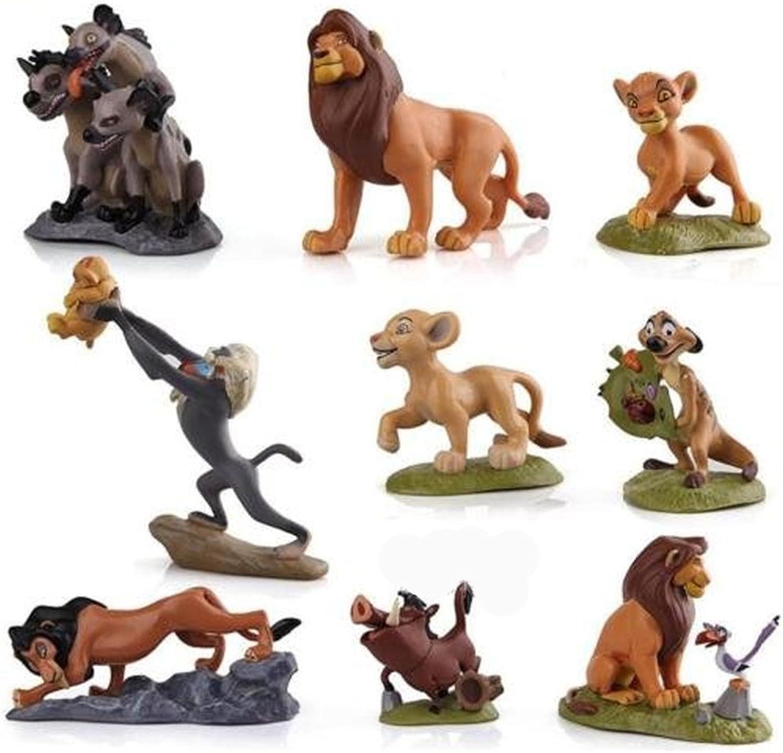 Generic 9 Pcs set PVC Lion King Action Figures Simba Nala Rafiki Pumba Zazu Timon Mufasa Movie Classic Toys