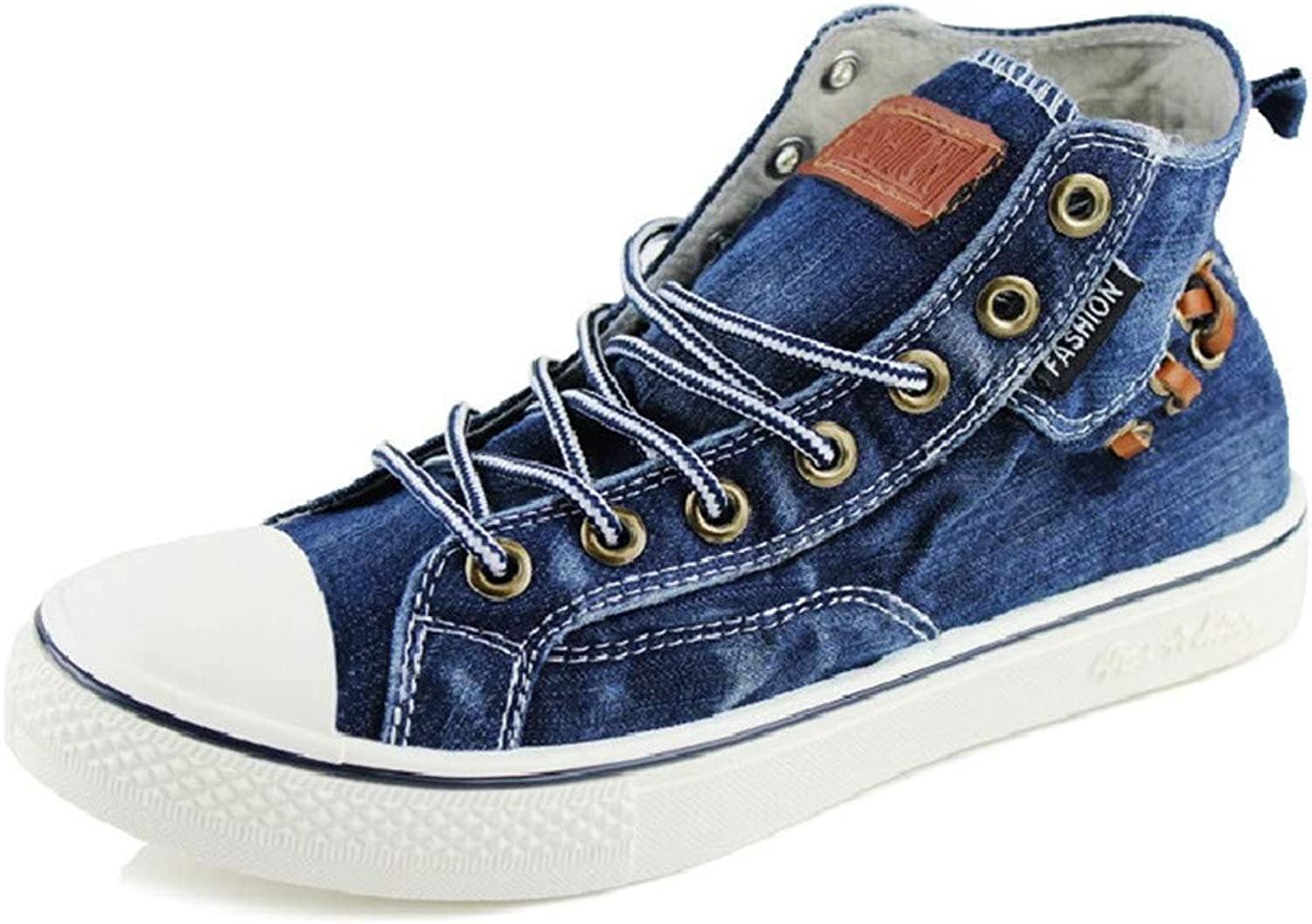 Fashion Women High Top Canvas Sneakers Women's Denim Ankle Lace Up Ladies Ankle Canvas shoes Woman