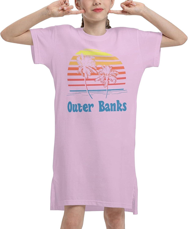 Outer Banks Summer Girls Dress Casual Cotton Sleeveless Skirt Dresses for Girls Kids 7-12 Years