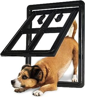 CEESC Dog Door for Sliding Screen Door, 3rd Upgraded Version Automatic Lock Pet Door for Dogs Puppies Cats, 3 Colors 5 Options
