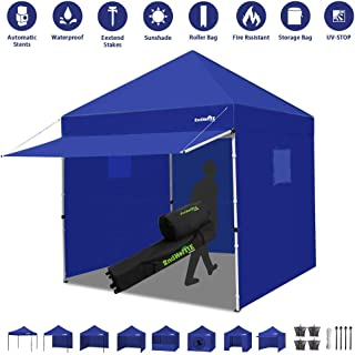 Canopy Tent 10 x 10 Heavy Duty Pop-up Instant Shelters Outdoor Commercial Portable Canopy Tent Market Canopies Sidewalls Weight Bags Roller Bag Net Wall Canopy Awning Storage Bag Canopy (Blue)
