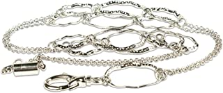 Cosco MyID Breakaway Lanyard for ID Badge Holders, Key Cards and ID Cards, Silver, Large Hoop, 20-Inch (075001)