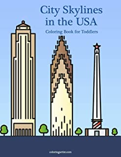City Skylines in the USA Coloring Book for Toddlers