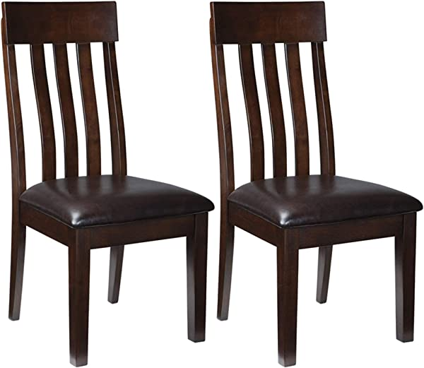 Ashley Furniture Signature Design Haddigan Dining Room Chair Upholstered Chairs Set Of 2 Dark Brown