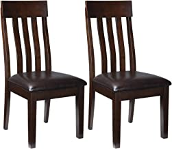 Ashley Furniture Signature Design - Haddigan Dining Room Chair - Upholstered Chairs - Set of 2 - Dark Brown