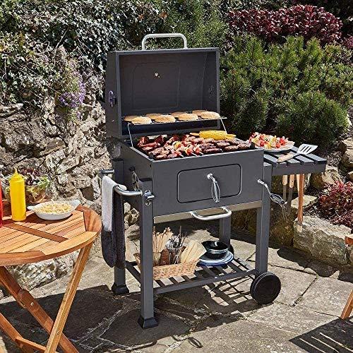 61l4gkxeKOL - HIZLJJ Feuerstellen, Holzkohlegrill Grillen im Freien, Camping, Tailgating Charcoal Rack-Grill inklusive Faltbare Edelstahl-Grill-Tools Barbecue Grill Regal