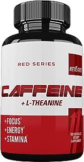 RevLabs - Caffeine Pills + L Theanine - Maximum Potency - 100mg of Pure Clean Caffeine + 200mg of L-Theanine - 100 Capsules
