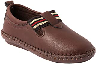 Hopscotch Kittens Synthetic Loafers for Boys - Brown