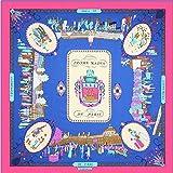 Aututer Nueva bufanda de seda de seda de imitación de sarga de moda para mujer, bufanda cuadrada grande de 130 cm, bufanda de mantón de viaje