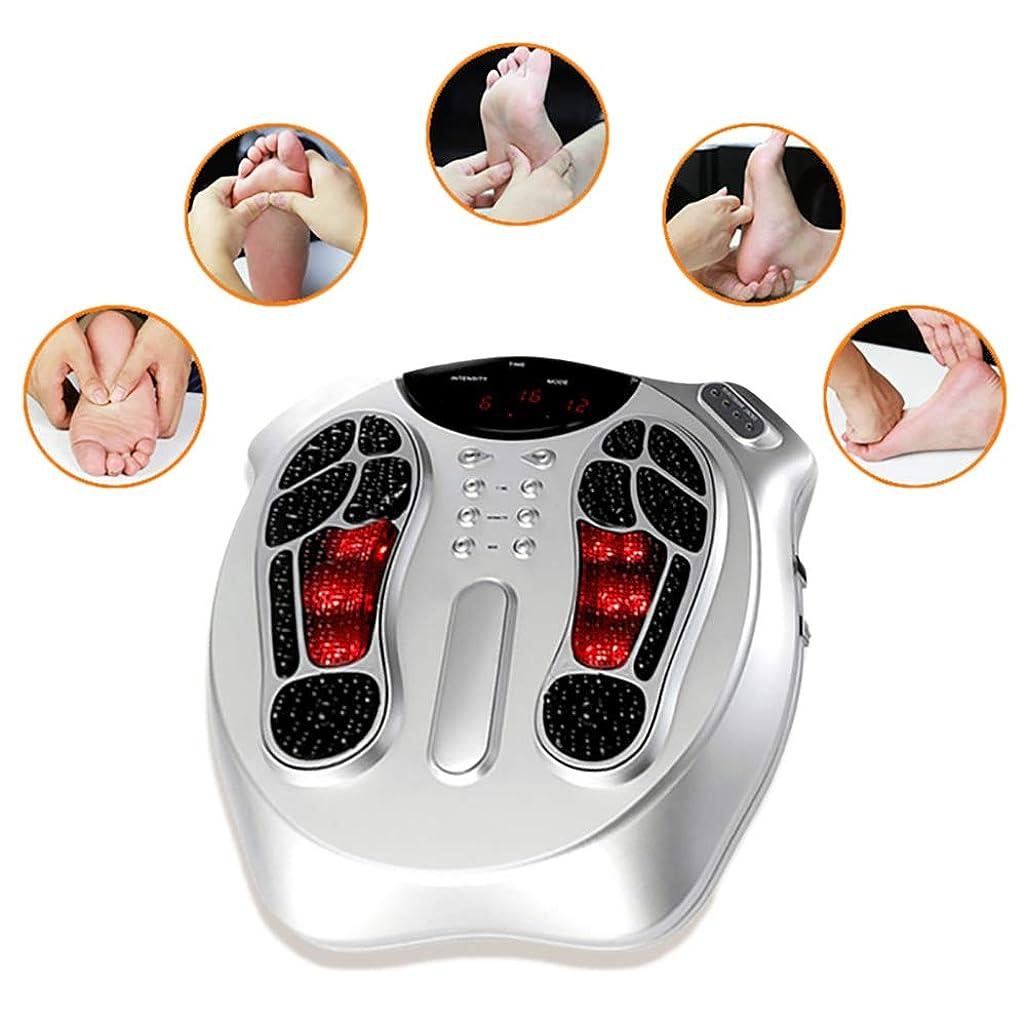 掃除フォローダース電磁波パルス循環フットマッサージャーフット循環装置+ 4パッド痛む足と脚を和らげ、脚の筋肉を強化