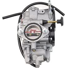 GOOFIT PV36 Carburetor for Yamaha Warrior 350 Koaiak 350 YFM350 BW350 1987-2004 ATV Quad Carb Hand Choke