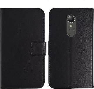 TienJueShi ブラック 耐汚れ スタンド 財布 レザー 合皮 カード収納 カバー ケース ポーチ 手帳型 HP Elite x3 5.96 インチ