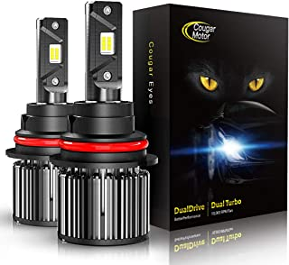 Cougar Motor 9007 LED Headlight Bulbs, High/Low All-in-One Conversion Kit, 10000 Lumen (6000K Cool White) - Adjustable Beam Pattern