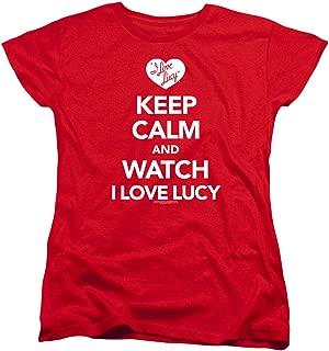I Love Lucy Keep Calm Women's T Shirt & Stickers