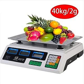 LCAZR Balanza Cuentapiezas Industrial, Balanza de sobremesa 40kg/2g, Bascula Digital Balanza Digital Electronica para Comercio Pesa Frutera