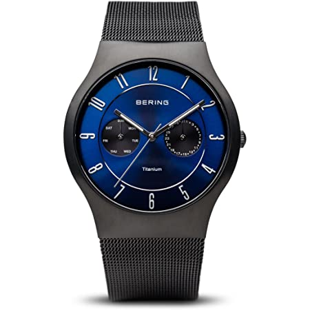BERING Time | Men's Slim Watch 11939-078 | 39MM Case | Titanium Collection | Stainless Steel Strap | Scratch-Resistant Sapphire Crystal | Minimalistic - Designed in Denmark