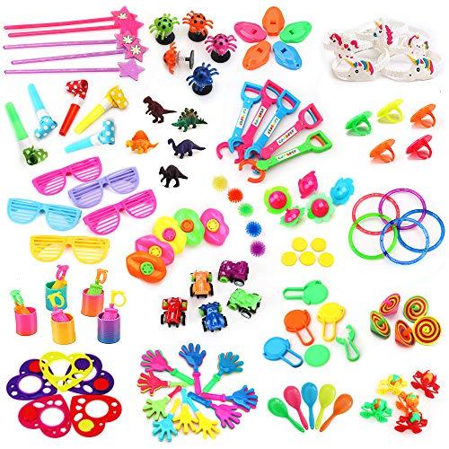 nicknack 120 Set Kinder Geburtstag Party Favor & Mitgebsel Mix- Kinder Party Kindergeburtstag & Pinata Spielzeug, kleine Spielzeuge, Teile Werbegeschenk & vieles mehr
