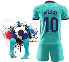 ZHPBHD 19-20 Barcelona, en Casa Y Fuera De Los Jerseys Adultos Uniformes del Fútbol Traje Nº 10 Uniformes De Entrenamiento Messi (Color : Green2, Size : L)