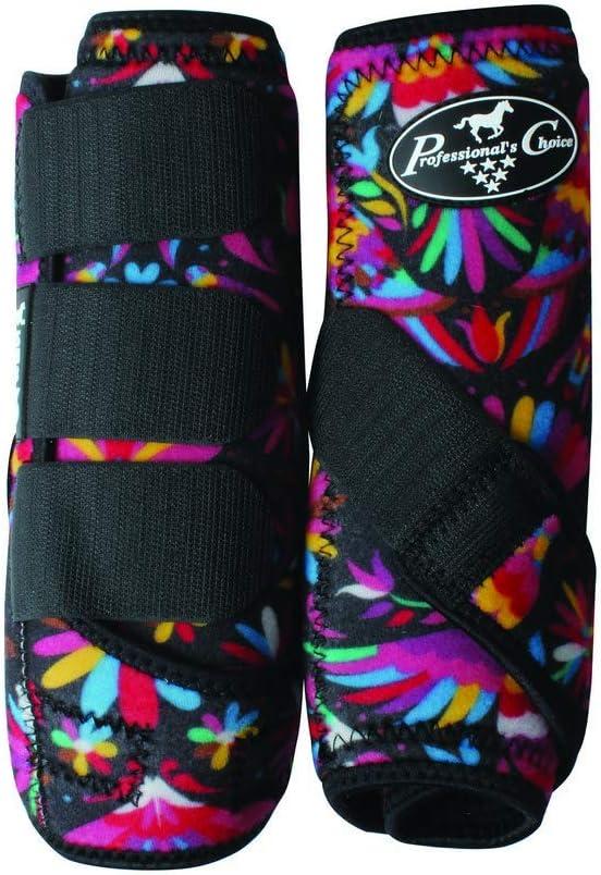 Professionals Choice Equine Neoprene Sports Medicine Leg Boot, Pair Fiesta