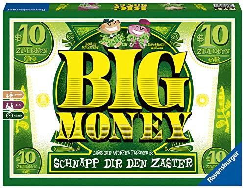 Ravensburger Würfelspiel Big Money, Abwechslungsreiches Spiel für Erwachsene und Kinder ab 8 Jahren, Ideal für Spieleabende mit Freunden oder der Familie