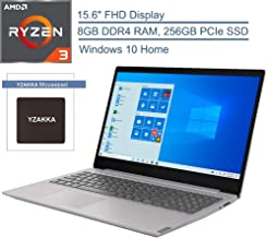 "2020 Lenovo IdeaPad S145 15.6"" FHD Laptop Computer, AMD Ryzen 3 3200U Up to 3.5GHz (Beats i5-7200U), 8GB DDR4 RAM, 256GB PCIe SSD, 802.11AC WiFi, Bluetooth 4.2, Grey, Windows 10, YZAKKA Mouse Pad"