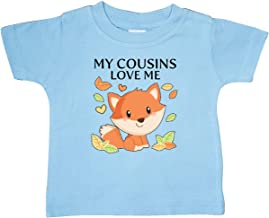 inktastic My Cousins Love Me- Little Fox Baby T-Shirt