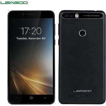 LEAGOO KIICAA Power - 3G Smartphone 5.0HD (Doble Cámara, 4000 mAh, Android 7.0, RAM 2gb ROM 16gb, MediaTek MTK6580 4 núcleos, Lector de Huellas), Negro: Amazon.es: Electrónica