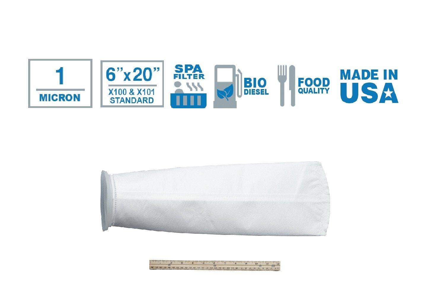 Lot of 10 #2 Filter Bag Nylon Monofilament Mesh Polypropylene Ring 149 Micron