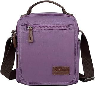 Mygreen Unisex Casual Retro Small Messenger Bag Shoulder Crossbody Bags Purse Purple
