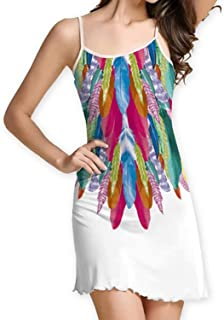 White Summer Dress Fashion Women Dress Feather Print Strapless Sexy Casual