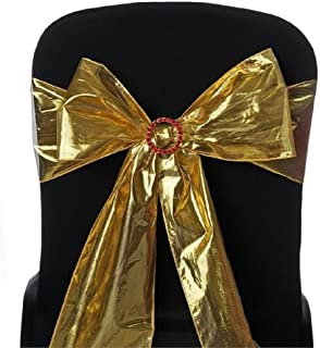sarvam Fashion Set of 50 Chair Decorative Shimmering Polyester Sashes Bow Designed for Wedding Events Banquet Home Kitchen Chair Sash Bow - [6