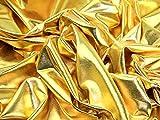 Minerva Crafts Stretch-Kleiderstoff, Metallic-Lycra,