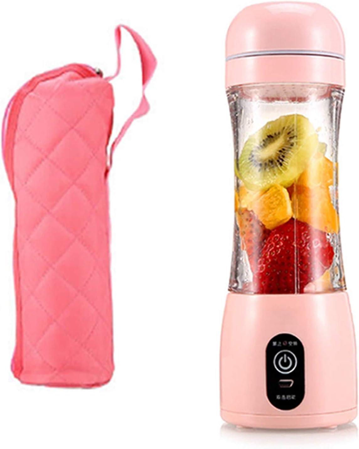 hyhy Portable Blender Personal Mixer Fruit Handhold Mini Travel Size Blender for Smoothie, Fruit Juice, Milk Shakes(Pink)