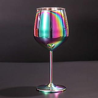 Yaosh Kubek ze stali nierdzewnej, 500 ml, wielokrotnego użytku, trwały, do napojów sokowych / kieliszków do szampana, kszt...