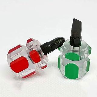 Mini screwdriver flat head/cross/ultra short screwdriver screwdriver (combination) 2 pieces