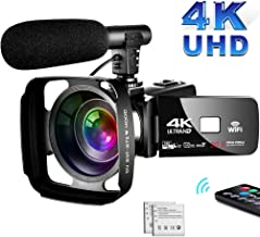 4K Camcorder Video Camera,Vlogging Camera for YouTube 30MP Camcorder 3.0 Inch Touch..
