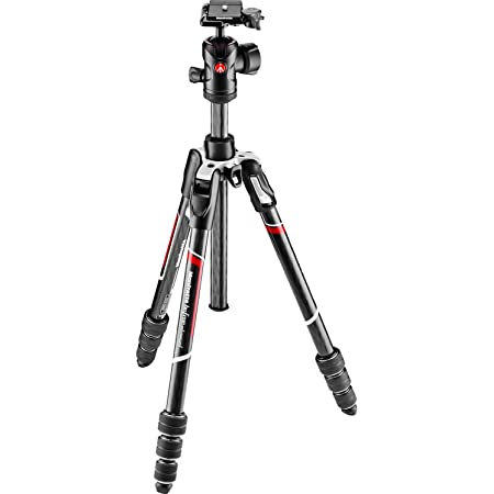 Manfrotto Befree Advanced Twist Camera Tripod Kit, Travel Tripod Kit with Fluid Head and Twist Closure, Portable and Compact, Carbon Camera Tripod for DSLR, Reflex, Mirrorless, Camera Accessories