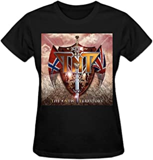Tnt The New Territory 100% Cotton Cotton T Shirt For Women O-Neck Black