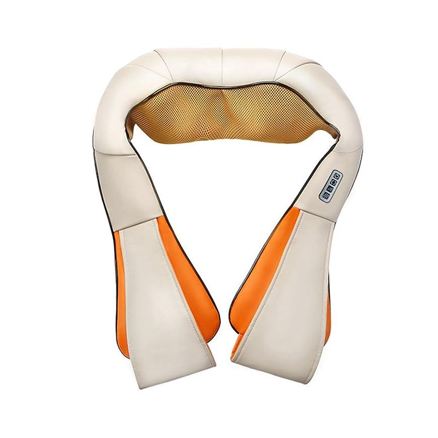 クリスチャン汚れる法律Nwn 指圧マッサージャーの首の肩の背中の混練マッサージマッサージの筋肉の痛みの軽減自宅のためのカーアダプターとポータブル暖房機能