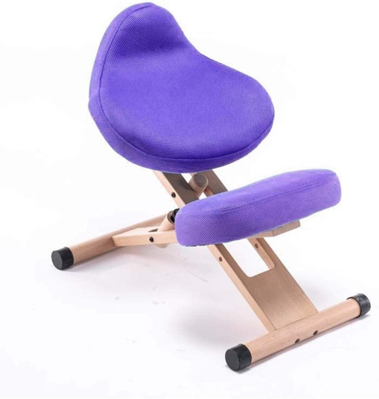 Simple Mode Version Ergonomique Genoux améliorée Chaise Moderne en Bois Massif Genou Bureau Tabouret Position Assise Chaise de Correction (Couleur : Red Color) Dark Green Color