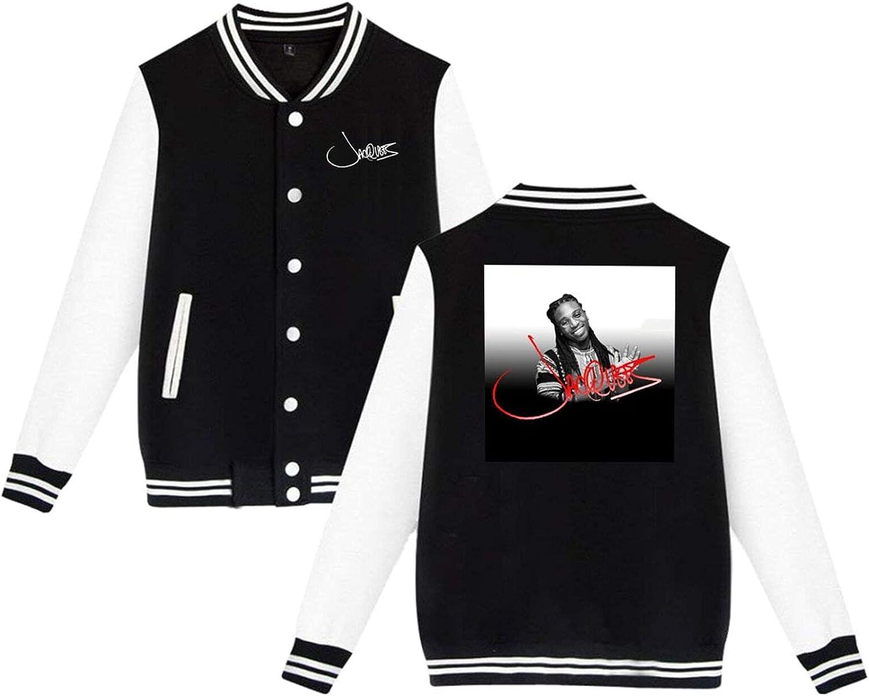 Jacquees Mens Slim Fit Varsity Coat Jacket free Baseball Free shipping on posting reviews Sport