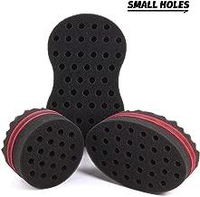 ORIY Small Holes Magic Twist Hair Curling Sponge for Men Women Boys Afro Natural Hair Style Curler Wave Barber Coil Sponge Brush Kit Black 10mm