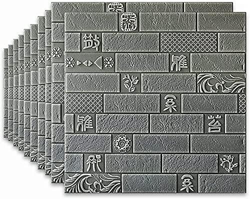 CAETNY 10pcs Papel de Parede de tijolo 3D impermeável para banheiro Azulejos de Parede autoadesivos da Sala de Estar Fundo do Quarto Papel de Parede Decorativo adesivos de Parede e murais (c