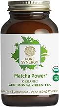 Pure Synergy USDA Organic Matcha Power (2.1 oz Powder) Ceremonial Japanese Green Tea Powder
