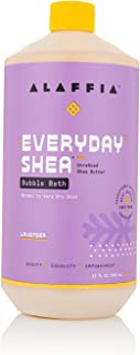 Alaffia EveryDay Shea Bubble Bath Lavender, 32 Oz | Soothing Support for Deep Relaxation and Soft Moisturized Skin | Made ...