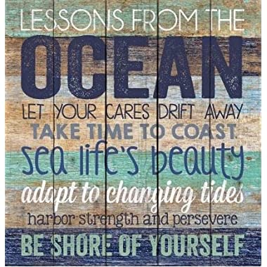 Advice from the Ocean Distressed Design 24 x 25 Wood Pallet Wall Art Sign Plaque