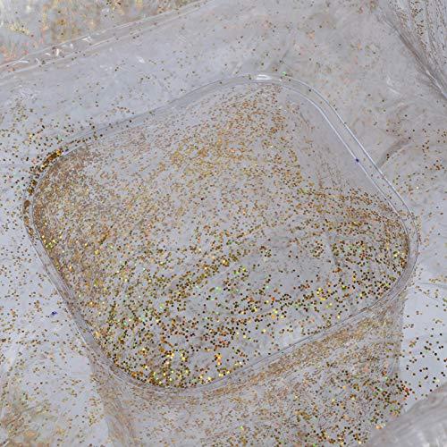 Sofá de ocio de PVC Sofá Decoración casera transparente para dormir siesta de ocio (dorado)
