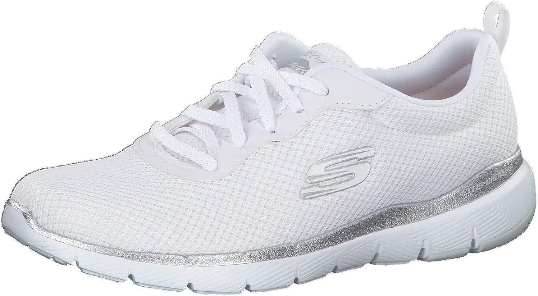 Oklahoma City Mall Skechers Flex Appeal Translated 3.0 13070-WSL Womens Mesh Tr Silver White